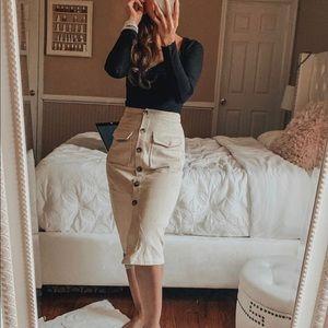 Princess Polly Nica black long sleeve bodysuit top